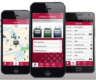 Download de afval App van Omrin